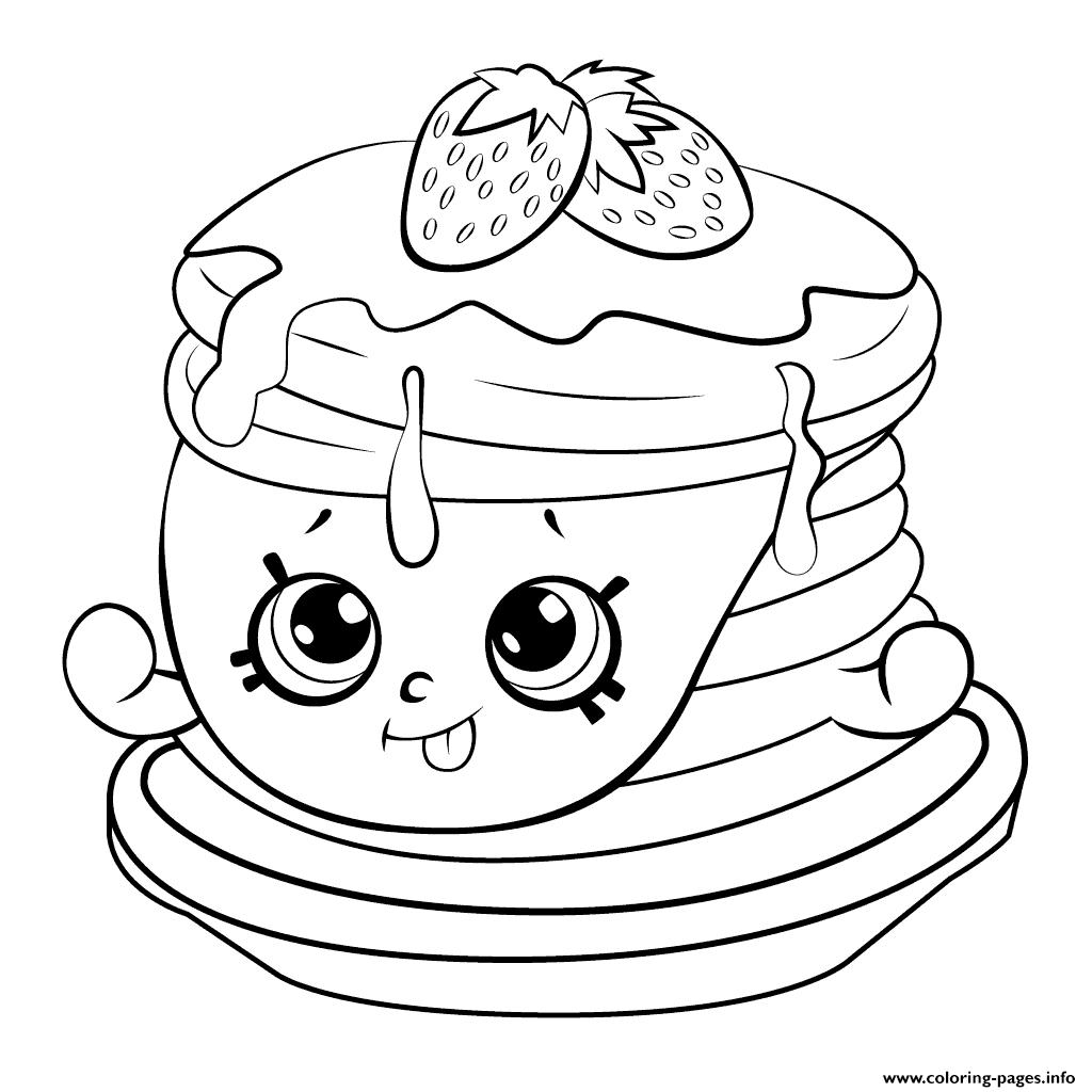 1024x1024 Print Ultra Rare Strawberry Pancake Shopkins Season Coloring