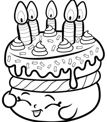 371x425 Shopkins Coloring Pages Wishes Cake Wishes Shopkin Coloring Page