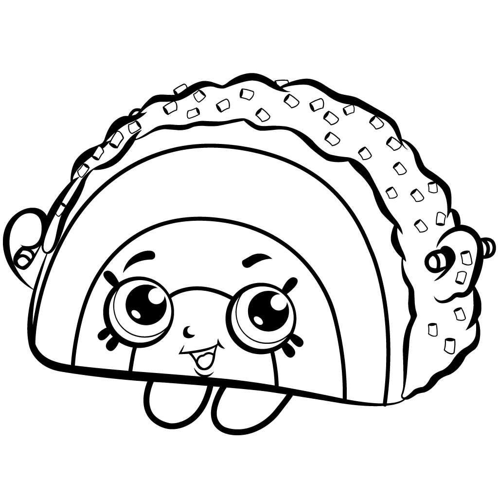 1024x1024 Cake Wishes Coloring Page From Shopkins