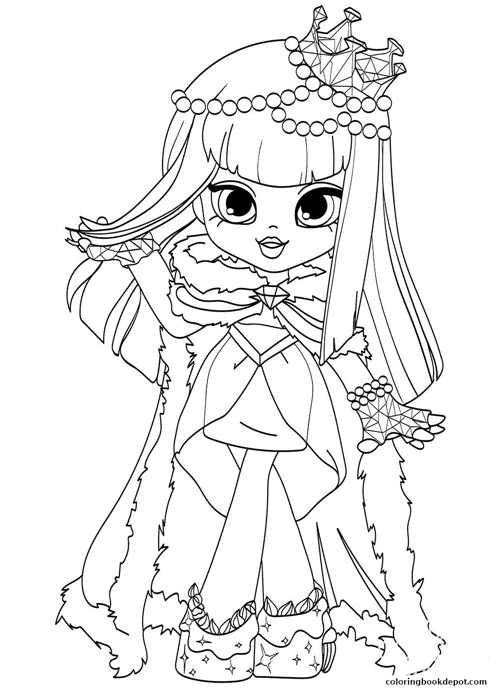 Shoppie Dolls Coloring Pages At Getdrawings Free Download