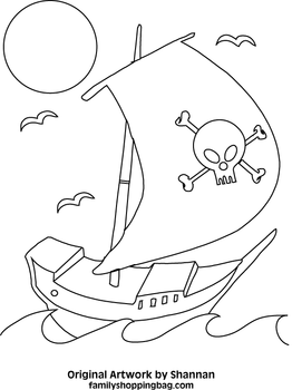 262x350 Pirate Coloring Page, Pirate, Coloring Pages