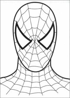 236x330 Spiderman Face, Spiderman, Coloring Pages