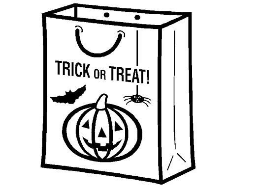 528x387 Trick Or Treat Bag Coloring Page Drawing Board Weekly