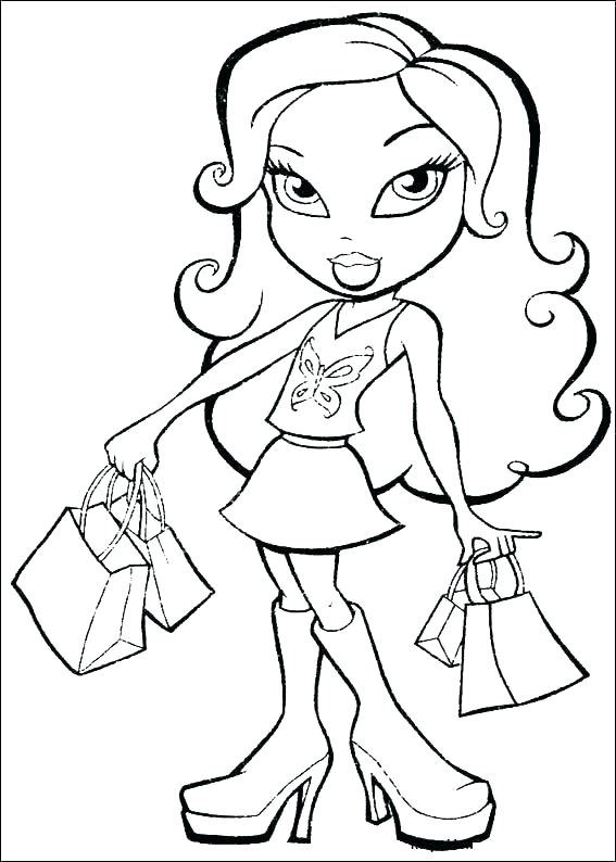 567x794 Lipstick Coloring Pages