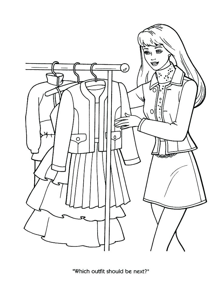 736x981 Shopping Coloring Pages