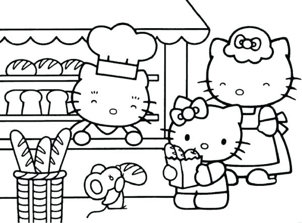 600x443 Shopping Coloring Pages