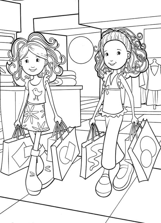 560x773 Groovy Girls Shopping Coloring Pages For My Girl