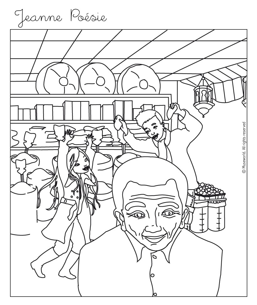 820x972 Jeanne Shopping Coloring Pages