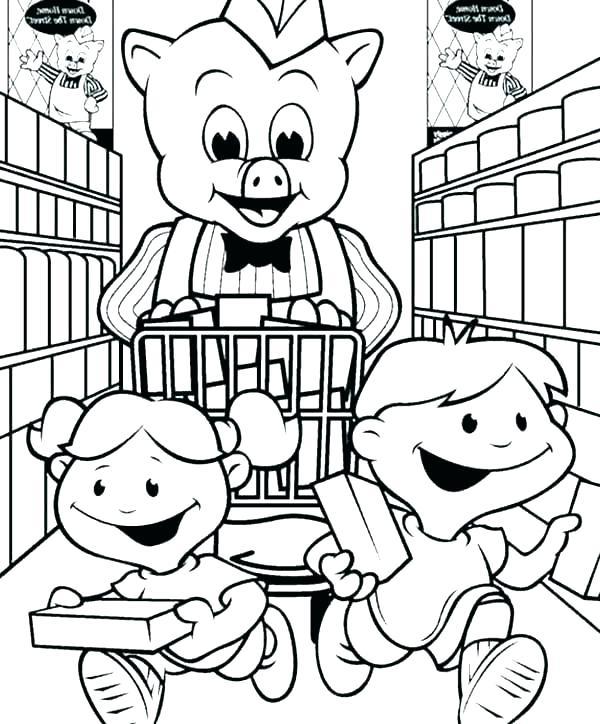 600x724 Shopping Coloring Pages Shopping Coloring Color Online Shopping