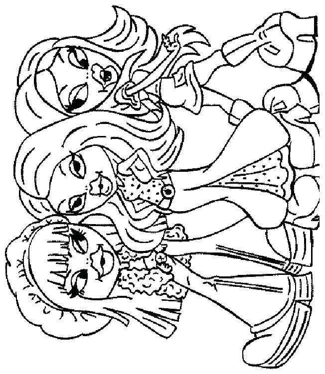 652x751 Bratz Coloring Book Shopping Coloring Pages Bratz Colouring Book