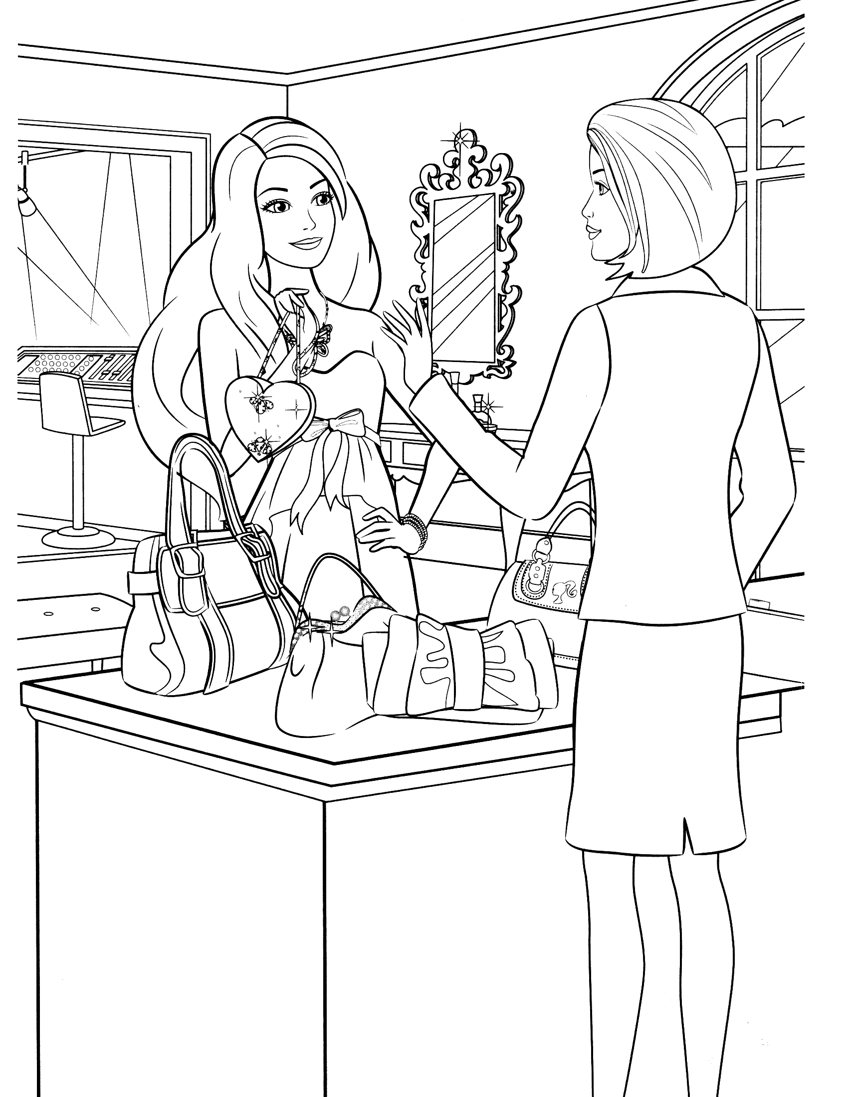 1700x2200 barbie coloring pages