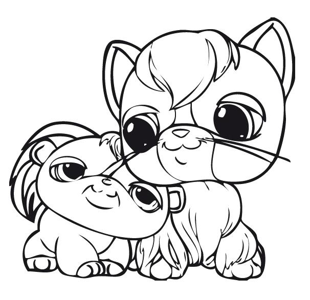 606x587 Cute Dog Littlest Pet Shop Coloring Pages
