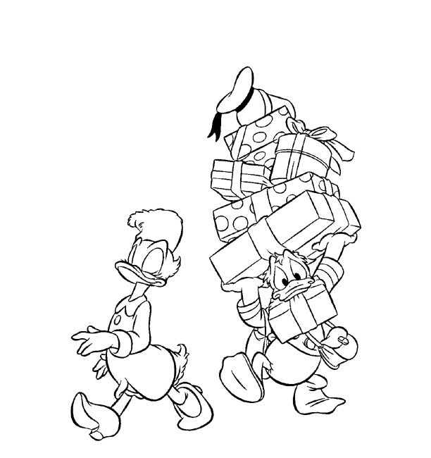 612x650 Donald Taking Daisy Shopping Coloring Page Boys Pages