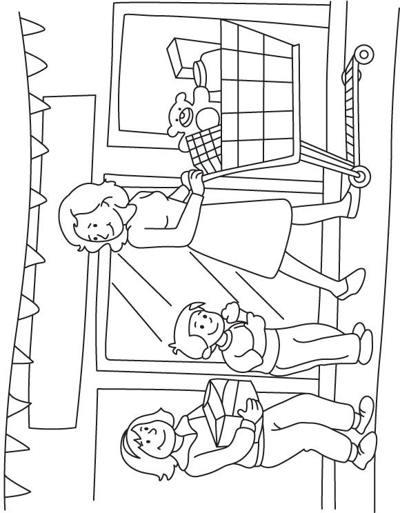 580x744 Shopping Mall Coloring Pages