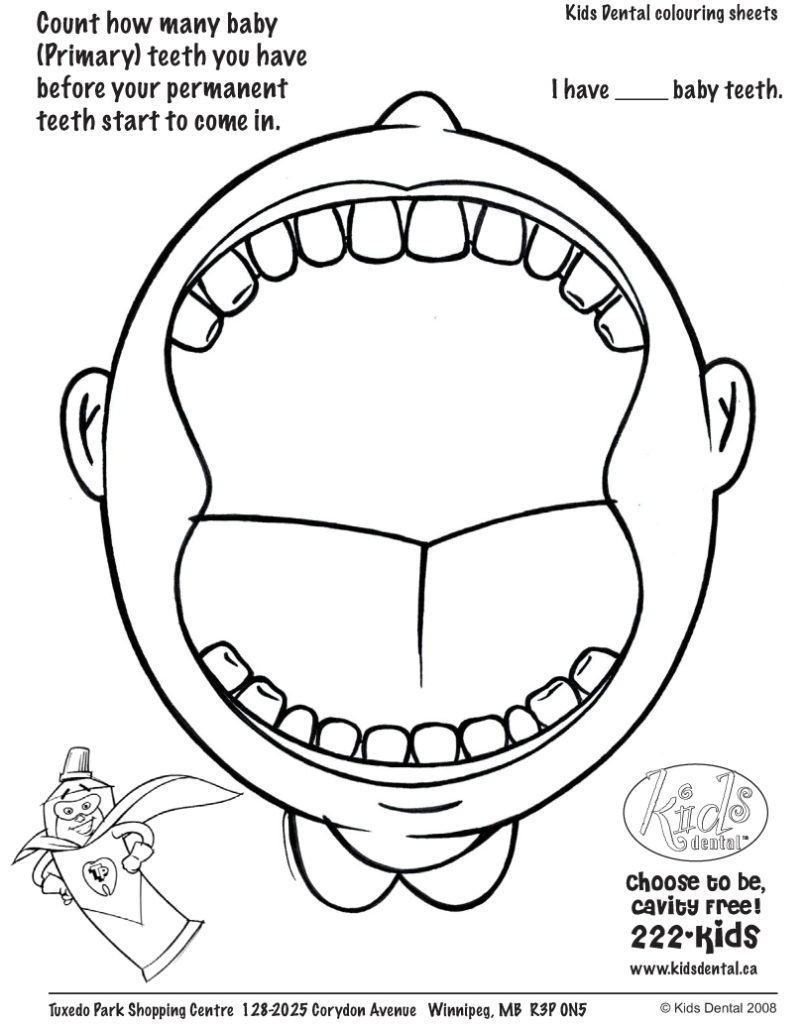 807x1024 Teeth Coloring Pages Free Coloring Pages