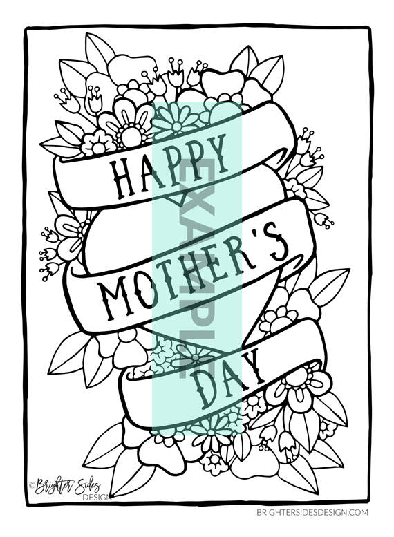 570x777 Coloring Page For Mom, Mother's Day, Printable, Mothers Day