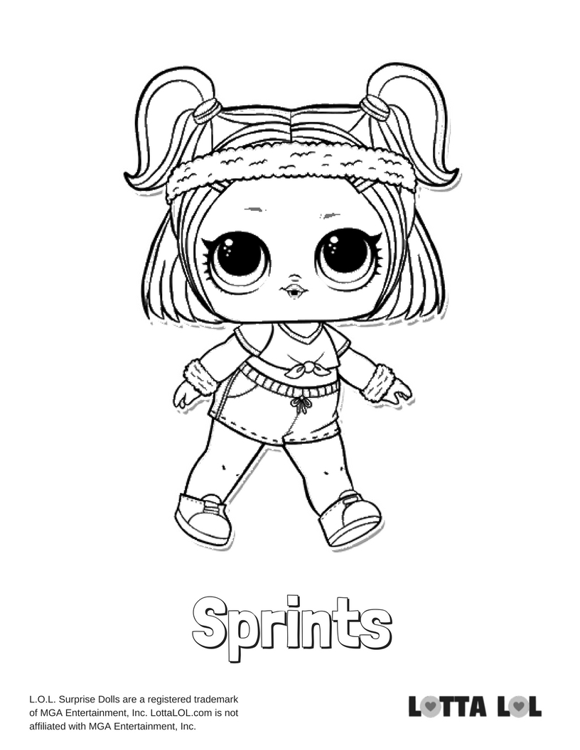816x1056 Sprints Lol Surprise Doll Coloring Page Lotta Lol