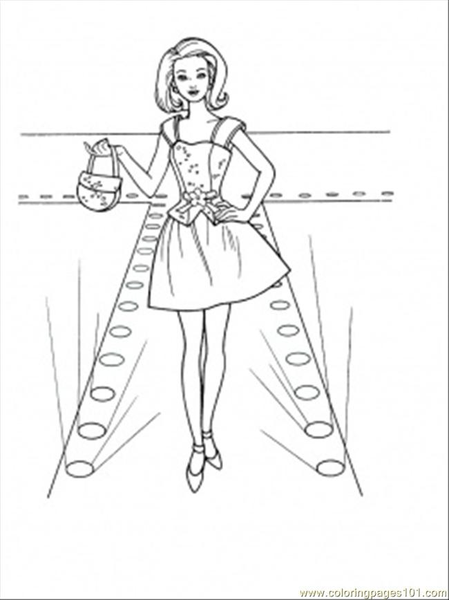 650x868 Fashion Show Coloring Page