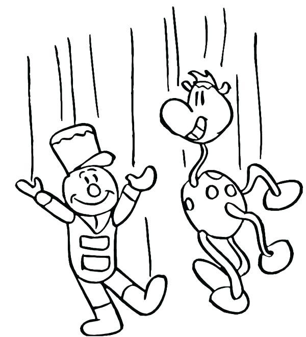 600x660 Puppet Coloring Pages Puppet Coloring Pages Funny Puppet Show