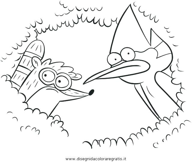 640x540 Regular Show Coloring Pages Cartoon Regular Show Free Colouring