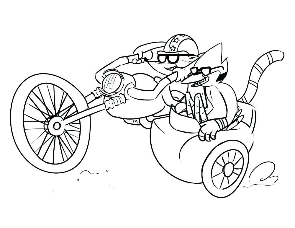 1000x772 Regular Show Coloring Pages Printable The Explorer To Print Reg