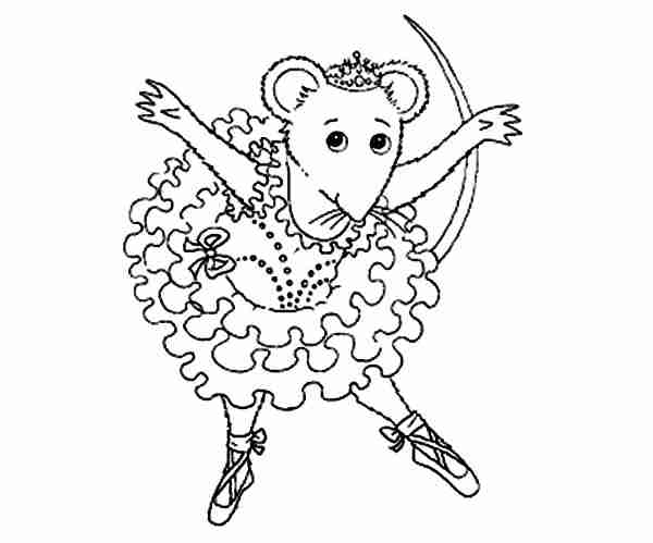 600x499 Angelina Ballerina Bowing After Show Coloring Pages Batch