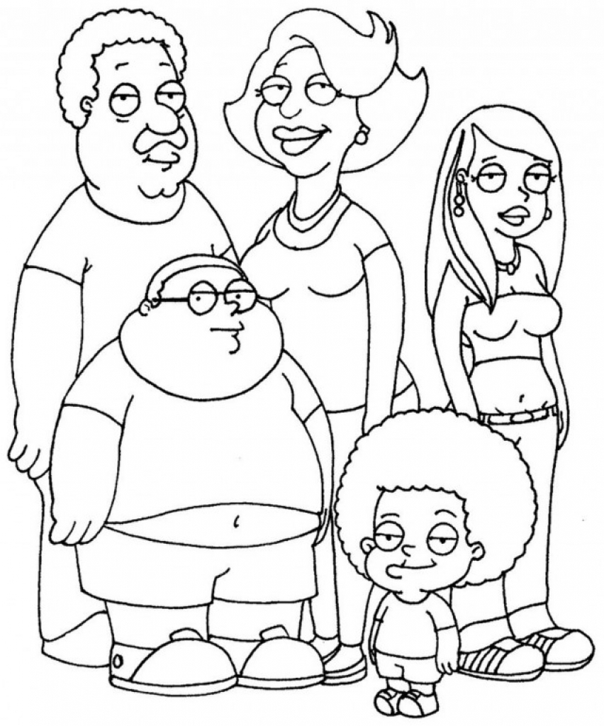 852x1024 Cleveland Show Coloring Pages Printable Coloring For Kids