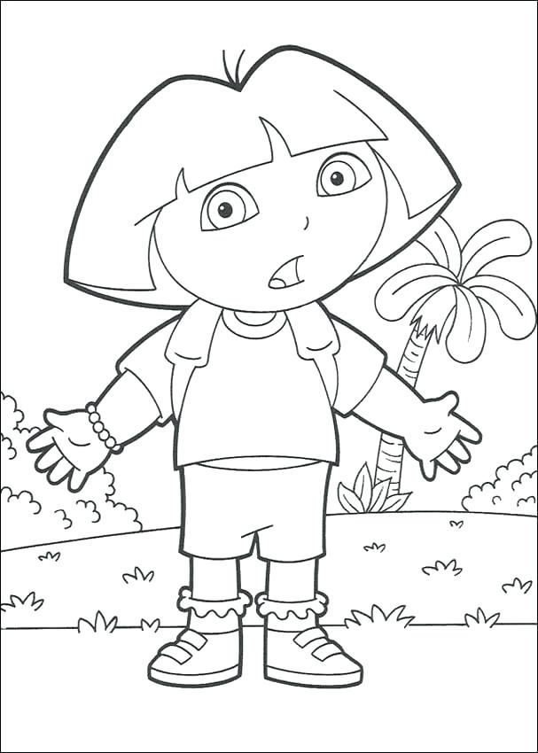 607x850 Dora The Explorer Printable Coloring Pages Printable Coloring