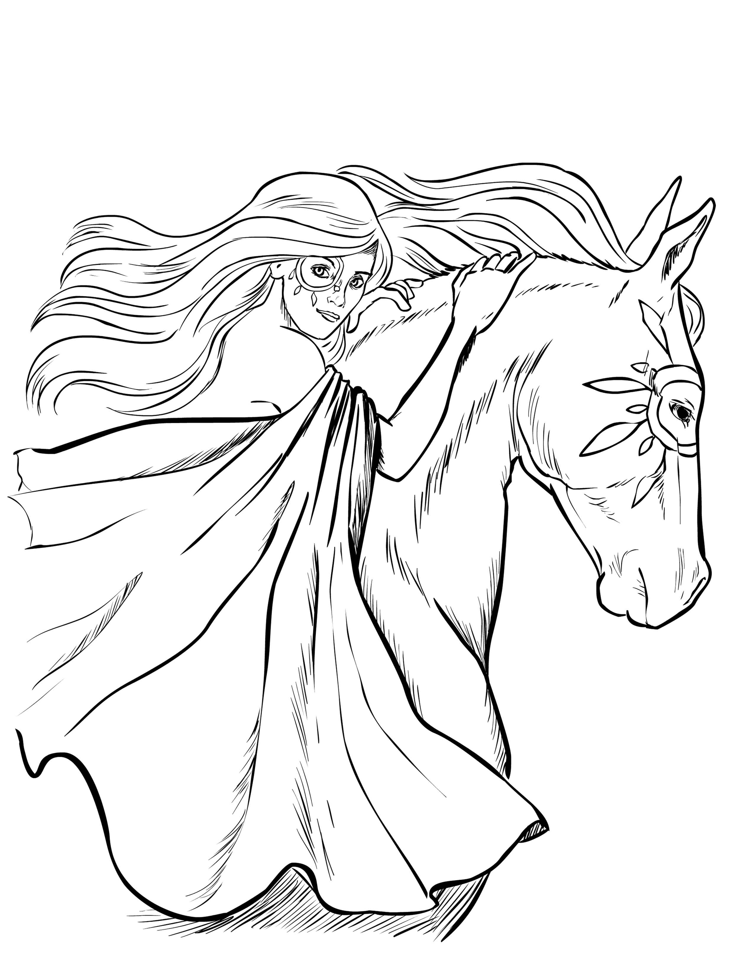 2550x3300 Homely Design Horse Coloring Pages For Adults Detailed Designed