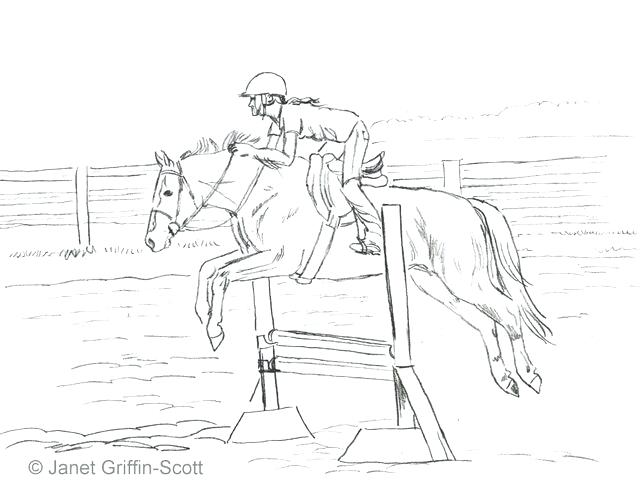 640x487 Horse Jumping Coloring Pages Draw A Jumping Show Horse Show