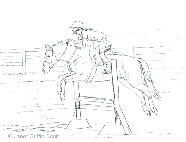 640x487 Horse Jumping Coloring Pages Draw A Show Free Colorin Murs