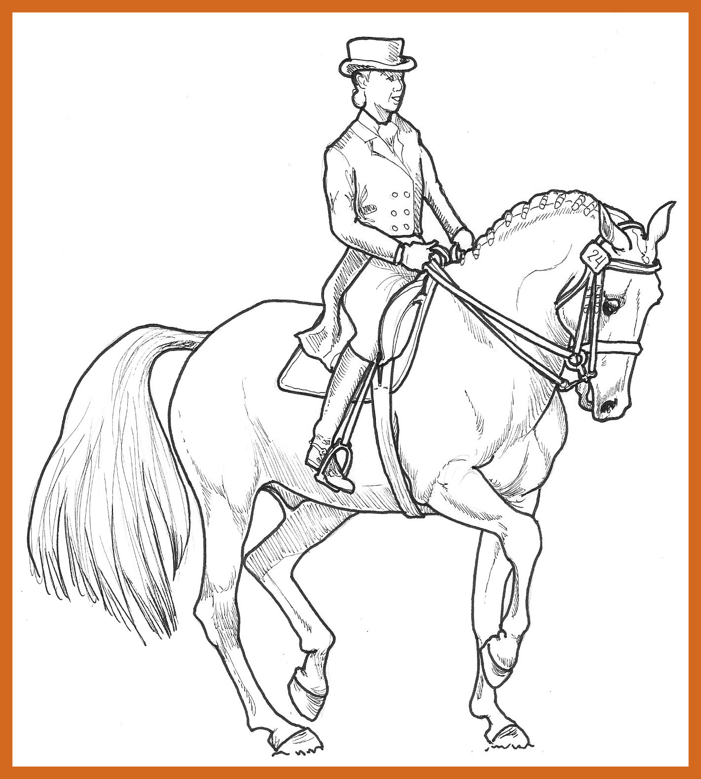 1421x1578 Unbelievable Equestriancoloringbooks Pict For Horse Show Coloring