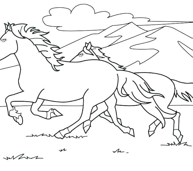 678x600 Horse Jumping Coloring Pages
