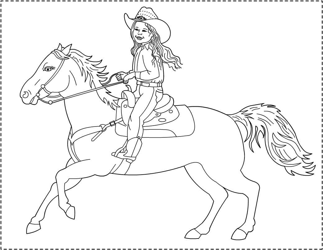 1040x806 Cowgirls Coloring Pages