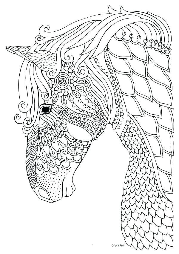 600x849 Horse Jumping Coloring Pages Coloring Pages Of Horses Detailed