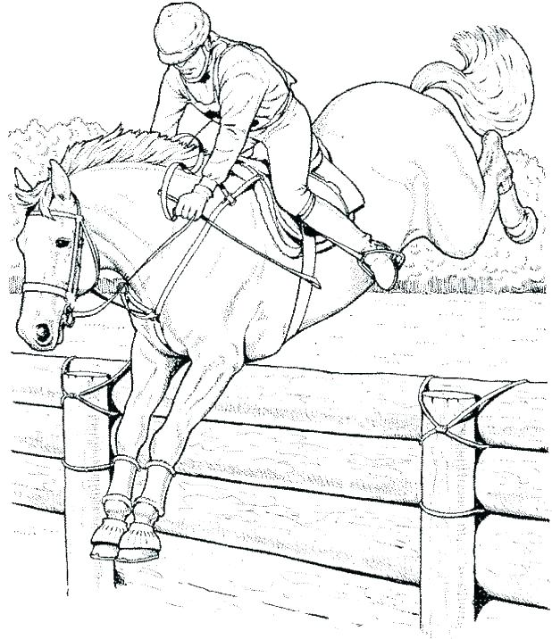 618x716 Horse Jumping Coloring Pages Horse Racing Coloring Pages Race