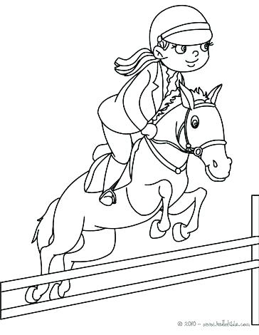 364x470 Horse Jumping Coloring Pages Show Jumper In Colored Pencil Horse