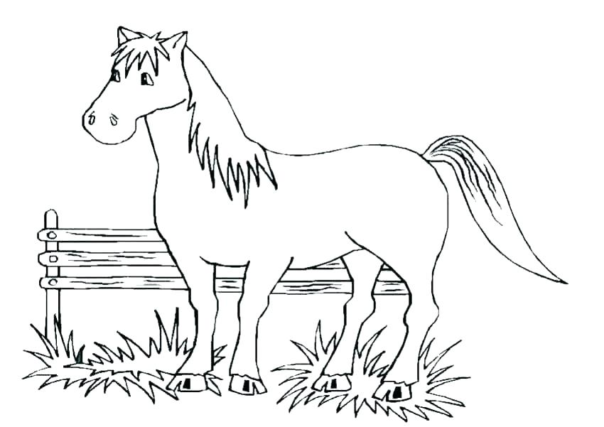 850x601 Coloring Pages Of Horses Jumping Horse Jumping Coloring Pages