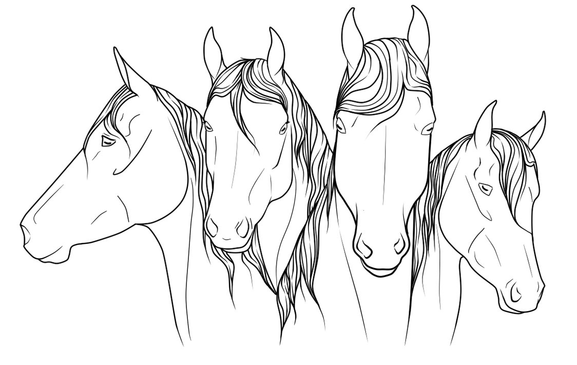 Show Jumping Horse Coloring Pages