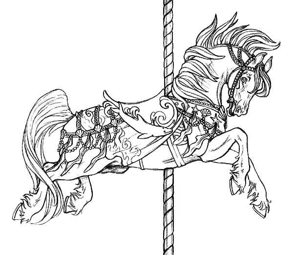 600x522 Horse Coloring Page Horse Jumping Coloring Pages Horse Racing