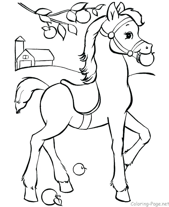 670x820 Horse Coloring Pages Horse Coloring Sheets As Well As Innovative