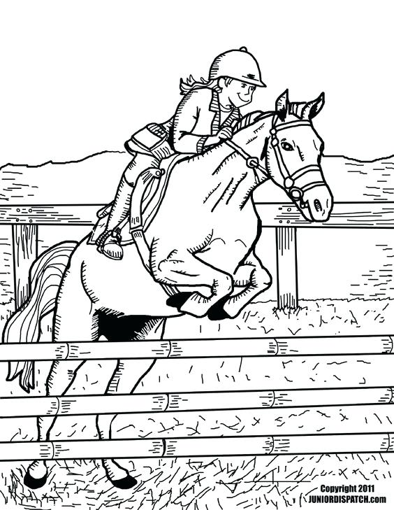564x729 Horse Jumping Coloring Pages Horse Jumping Coloring Pages Coloring