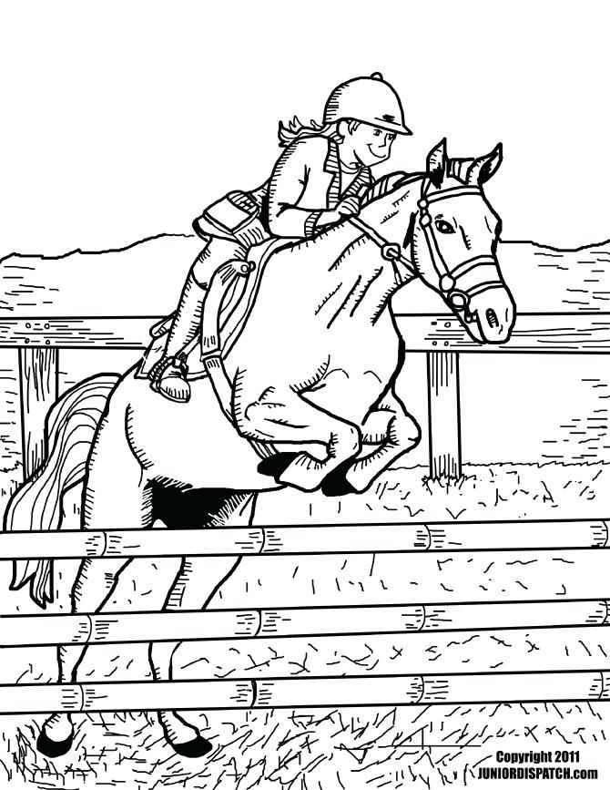 670x867 Horse Jumping Coloring Pages Synthesis Site Free Printable