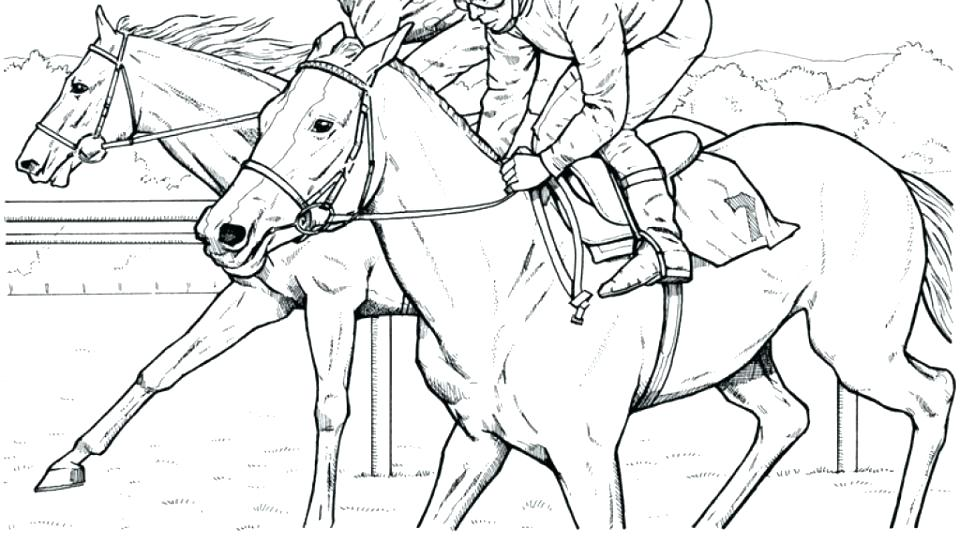 960x544 Horse Racing Coloring Pages Racing Coloring Pages Draft Horse