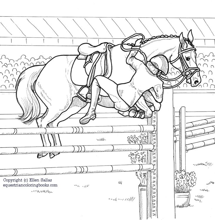 731x747 Hunter Jumper Horse Coloring Pages