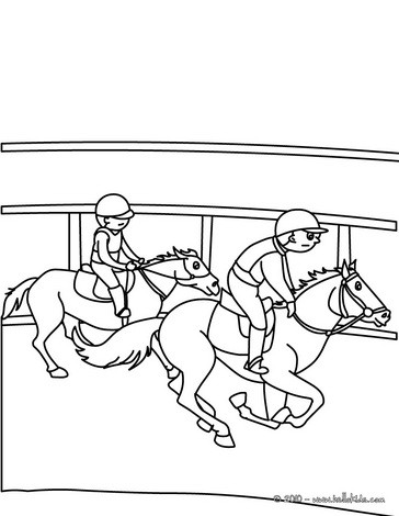 364x470 Cute Kids In Horse Competition Coloring Page More Sports Coloring