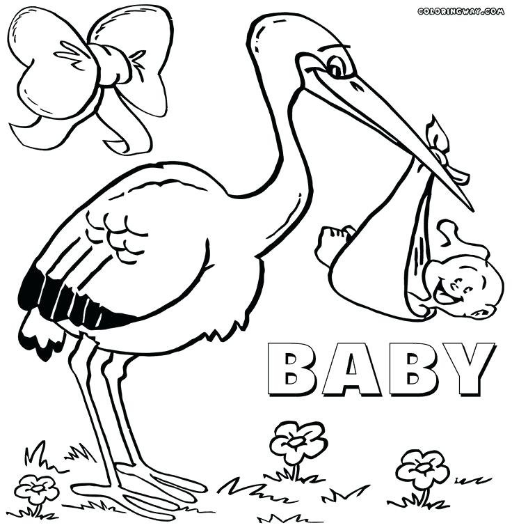 736x761 Baby Shower Coloring Pages Baby Shower Coloring Baby Shower Themed