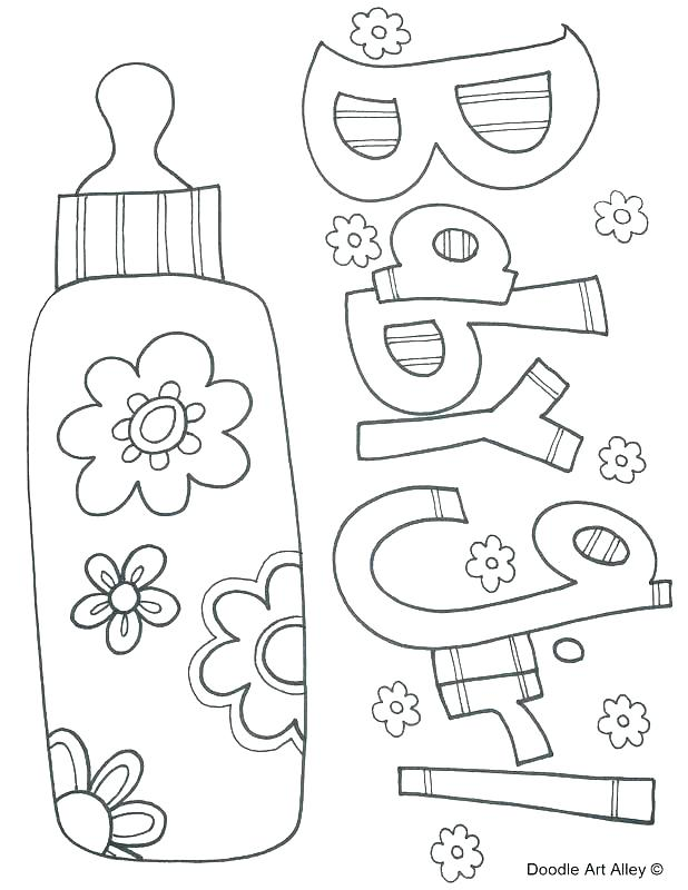 618x800 Baby Coloring Book Baby Shower Coloring Pages Also Baby Shower