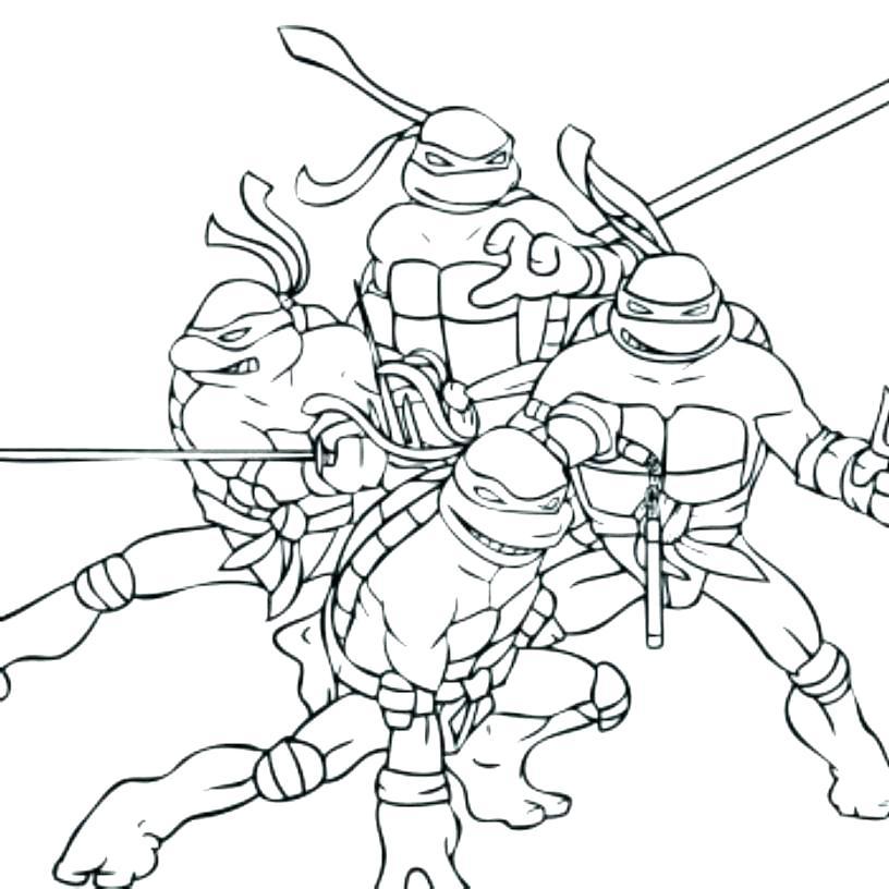 816x816 Teenage Mutant Ninja Turtles Coloring Page Teenage Mutant Ninja
