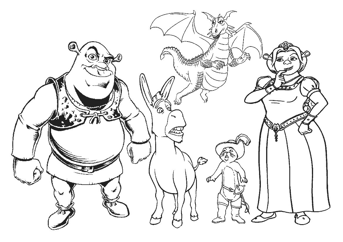 Shrek Christmas Coloring Pages